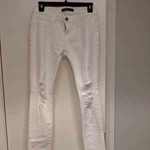 Never worn before DSTLD white jeans